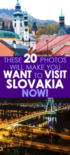 There are many cities in Slovakia worth visiting including Bratislava, Kosice, Presov, Nitra, Zilina, Banska Bystrica, Trnava and Martin. Slovakia has so many beautiful castles and its landscape is exciting and dramatic. #Slovakia #travelguides #travelphotos