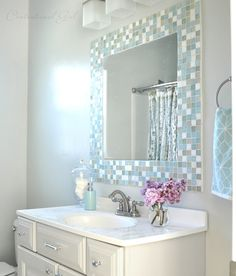Centsational Girl » Blog Archive » DIY: Mosaic Tile Bathroom Mirror