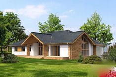 Villa Design, House Design, Conception Villa, Modern Bungalow House, Garage Apartment Plans, A Frame House, Good House, New House Plans, Design Case