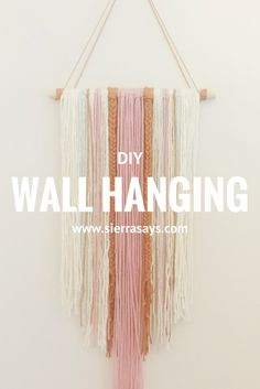 On the blog today I created my own DIY yarn wall hanging. Learn how to inexpensively and easily make your own trendy wall decor!
