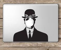 Son of Man Painting Rene Magritte - Apple Macbook Laptop Vinyl Sticker Decal