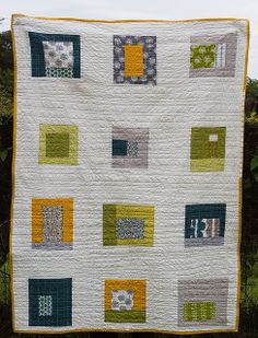 Elinor's Quilt 1 by poshdee, via Flickr  Also a good quilt to learn simple machine quilting........