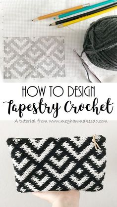 How to design tapestry crochet, creating a graph for tapestry crochet, tapestry crochet, crochet design, how to design crochet crochet patterns How To Design Your Own Tapestry Crochet — Meghan Makes Do Tapestry Crochet Patterns, Crochet Stitches Patterns, Crochet Designs, Knitting Patterns, Crochet Clutch, Crochet Handbags, Crochet Purses, Crochet Shell Stitch, Crochet Chart