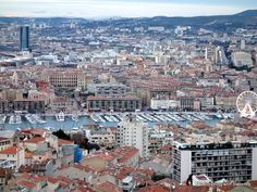 """""""View of Marseille from the highest point in the city at the Basilica Notre Dame de la Garde"""""""