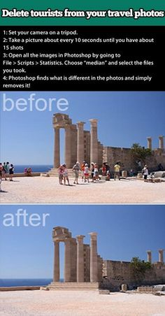 Photoshop Tip summarized: must get a tripod!