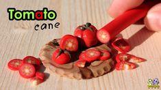 Колбаска - ПОМИДОР из полимерной глины ( Polymer сlay TOMATO Cane)