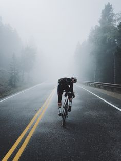 """thespecializeddigest: """" The fog rolling in thick as we ascended well above 10,000 ft. """""""