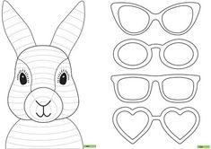 Vorlage: Osterhase zu färben / Modèle: Lapin de Pâques à colorier Easter Bunny Template, Funny Easter Bunny, Bunny Templates, Happy Easter, Easter Craft Activities, Art Activities, Bunny Crafts, Easter Crafts, Diy Crafts