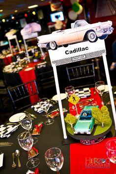 29 best car centerpieces images themed parties birthday ideas rh pinterest com