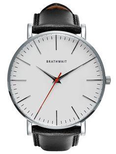 The classic slim steel wrist watch: Melano top grain Italian calf leather strap – Brathwait