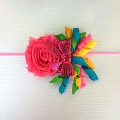 Shabby flower headband by Bowszigzag on Etsy, $7.00
