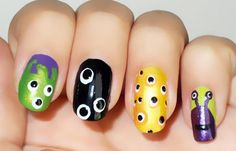 Diseños de uñas en colores, Diseños de uñas en colores fuertes.  Follow! #uñas #acrylicnails #uñasbonitas
