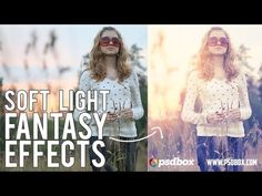 ▶ Soft Light Fantasy Photo Effects by PSD Box - YouTube, I love this look! Sundrenched, washed out, ethereal and summery. Everything I LOVE.