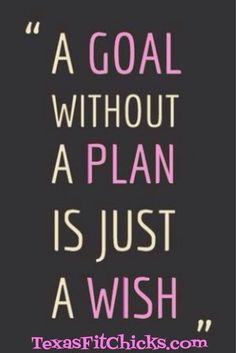 Make a plan! Let's do this!