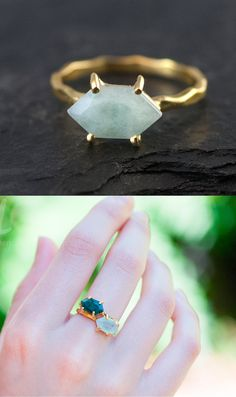 Aquamarine Ring Gold - March Birthstone Ring - Stack Ring - Solitaire Stone Ring - Gold Ring - Marquise Prong Set Ring Marquise Birthstone Rings. Perfect for stacking and can be worn separately. Stack together all the birthstones or your kids and grandkids. Arrange and rearrange as you