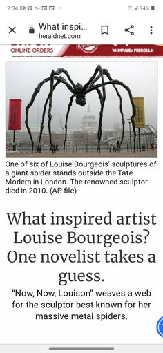 Giant Spider, Louise Bourgeois, The Outsiders, Sculptures, Take That, Artist, Inspiration, Biblical Inspiration, Artists