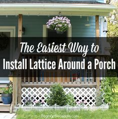 The easiest way to install lattice around a porch or deck. Cottage Patio, Cottage Gardens, Cool Diy Projects, Outdoor Projects, Lattice Deck, Outdoor Lighting, Outdoor Decor, Outdoor Ideas, Diy Porch