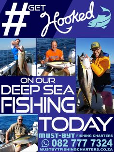 Get hooked with the best   Must Byt Get Hooked, Fishing Adventure, Fishing Charters, Deep Sea Fishing, Once In A Lifetime, Competition, Coast, Things To Come, Seaside