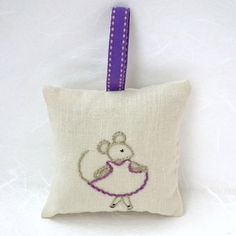 Just listed! My #etsy shop: Hand-embroidered Hanging Lavender Sachet filled with home-grown lavender from Napa Valley | Sleep Aid | Air Freshener http://etsy.me/2EwNUZd #art #fiberart #beige #lavender #valentinesday #purple #sachet