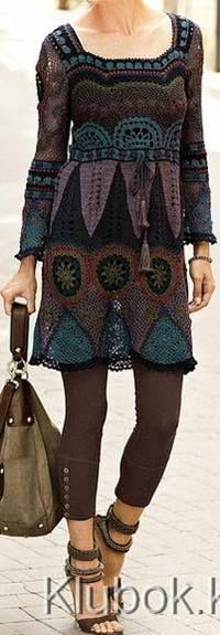 Häkelmuster Fundgrube: Patchwork-Kleid