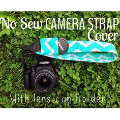 No Sew Camera Strap Cover! No sewing, $4 and 15 minutes! I can do that!