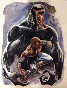 Spider-Man and Venom by J.G. Jones *