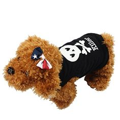 Sunward Fashion Pet Clothes Skull Vest Dog Cat Puppy Summer Spring Shirt for Smallmediumlarge Pet Dogs Cats Black XS ** Continue to the product at the image link.