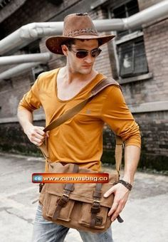 Genuine-Cow-Leather-Canvas-Bag-Messenger-Bag-Canvas-Bag-Laptop-Bag-1