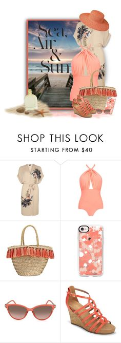 """""""At the Beach"""" by loveroses123 ❤ liked on Polyvore featuring Dorothy Perkins, Lilliput & Felix, Flora Bella, Casetify, Marc Jacobs, Aerosoles, PANTROPIC and Valentino"""