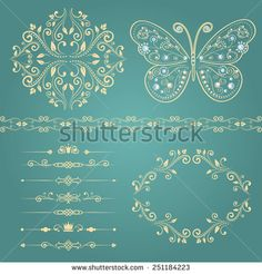 Set of floral border Premium Vector Badge Template, Frame Template, Zentangle, Watercolor Texture, Floral Watercolor, Banners, Photos Hd, Stock Photos, Pink And White Background