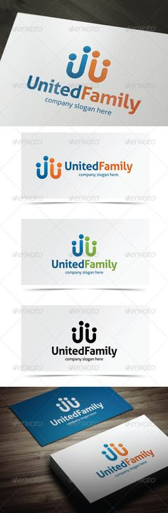United Family	 Logo Design Template Vector #logotype Download it here: http://graphicriver.net/item/united-family/5506894?s_rank=919?ref=nexion