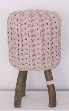 . Crochet Accessories, Home Accessories, Cotton Cord, Ottoman Stool, Kids Boutique, Powder Pink, Chair Covers, Material Design, Dusty Pink