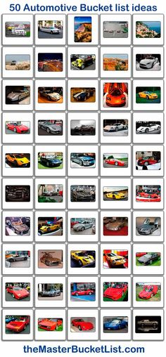 50 Automotive Bucket List Ideas.