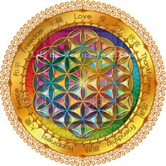 Flower of Life by Lily A. Seidel ~ The Flower of Life has been known to man for at least 2,500 years - it was first 'discovered' in ancient meopotamia at king ashurbanipal's palace (645 b.c.). the symbol can also be found in assyria, egypt, india, romania, israel, china, japan, bulgaria, turkey, spain, austria, italy, morocco, lebanon, peru, mexico & england.