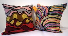 Check out these beautifully hand woven Australian Indigenous cushions!