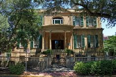 Owens-Thomas House, Savannah, GA.   On the balcony on the right side of the house, the Marquis de Lafayette gave a speech during his visit in 1825.
