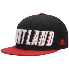 online store 6ce28 9acb3 Portland Trail Blazers adidas On Court Snapback Adjustable Hat - Black Red