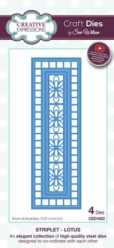 Hi crafters! Day four and we are starting out with the Striplets. Shown here, the Lotus Striplet is one of the two new striplet design...