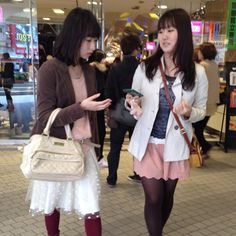 Shibuya 109 spring fashion trends 2012 pink skirts courtesy of @loic bizel
