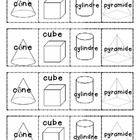 Cut out the pictures and glue them onto cue cards to create a deck of cards. This helps promote vocabulary with students. 1st Grade Math, Grade 1, Cue Cards, French Immersion, Going Fishing, 3d Shapes, Deck Of Cards, Vocabulary, Students