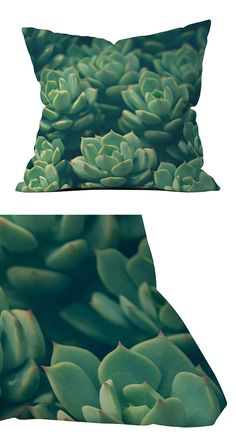 Update your patio with a pop of succulent greenery. This desert-inspired polyester throw pillow features a detailed graphic print of clustered succulent plants. Its UV protection and mildew resistant c...  Find the Succulents in Zoom Outdoor Throw Pillow, as seen in the Fresh Industrial Style Collection at http://dotandbo.com/collections/fresh-industrial-style?utm_source=pinterest&utm_medium=organic&db_sku=118548