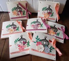 BaRb'n'ShEllcreations - Stampin' Up Flower Shop Gift Card Folder - made by Shell