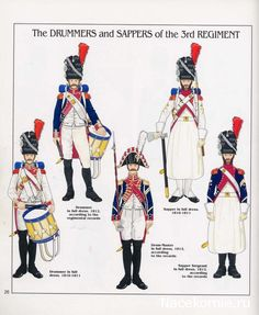 French; Imperial Guard, 3rd(Dutch) Grenadiers a Pied, Drummers, Tambour-Maitre, Sapper & Sapper Sergeant