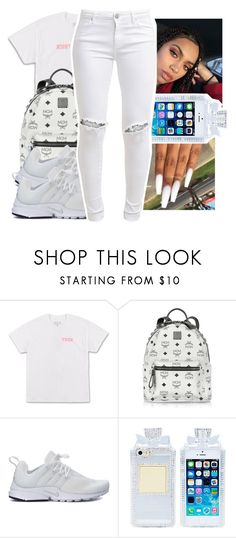 """""""Untitled #543"""" by ajdagoddess ❤ liked on Polyvore featuring MCM, NIKE and FiveUnits"""