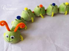How to make Egg Carton Caterpillars and Other Critters