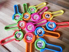 12 PAW PATROL Disk SHooters~ birthday party favor, goodie bags, prizes, awards