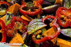 Ízzel-lélekkel készült receptek: Tepsis cékla köret Vegetarian Recipes, Healthy Recipes, Healthy Food, Ratatouille, Caprese Salad, Bruschetta, Clean Eating, Food And Drink, Stuffed Peppers