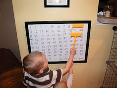 Fly Swatter with window...kids can use to identify letters, numbers, etc