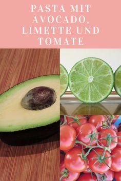 Ruckzuck Rezept für Pasta mit Avocado, Limette, Tomate, Chili und Knoblauch. Schnell zu kochen, diese Nudelsoße schmeckt auch Kindern.