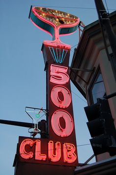 Awesome Neon Sign: 500 Club